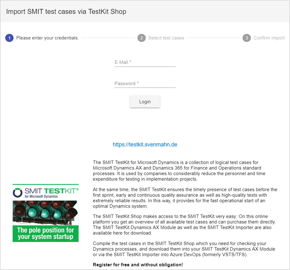 SMIT TestKit Shop import